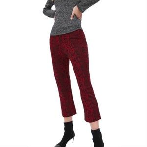 Zara Cropped Snake Print Pants leggings Small NWOT